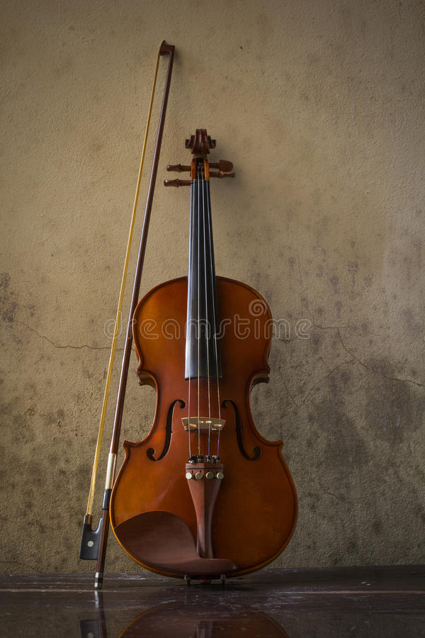 Still life with vintage violin royalty free stock image