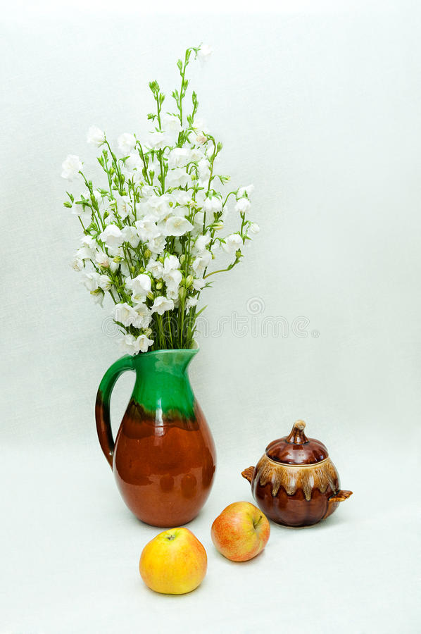 Free Still Life With Vase Of Bells And Apples Stock Photos - 29061603