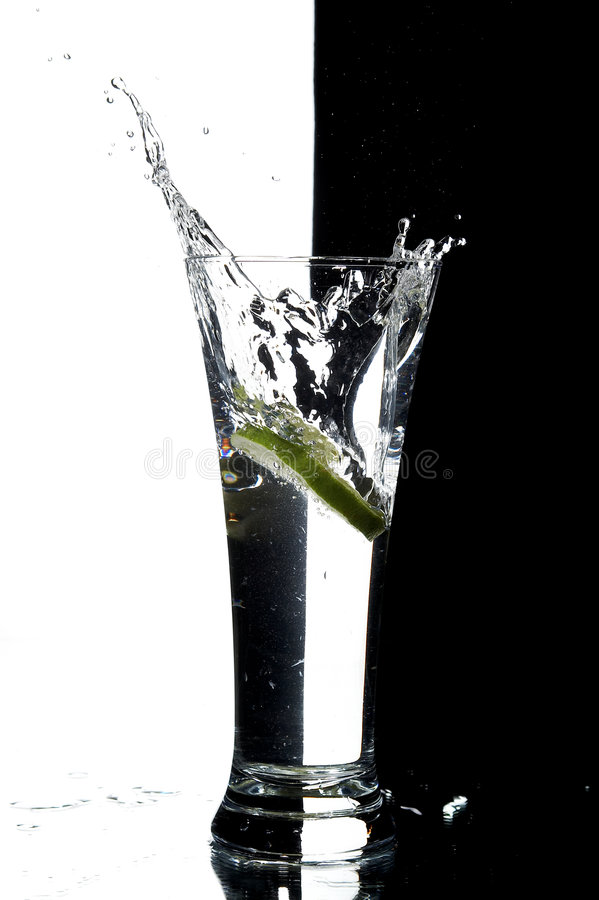 Free Still Life With Water And Lime Stock Images - 3171484