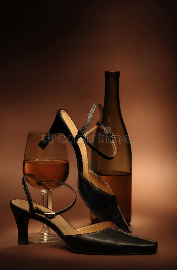 Still life with women's shoes royalty free stock photography