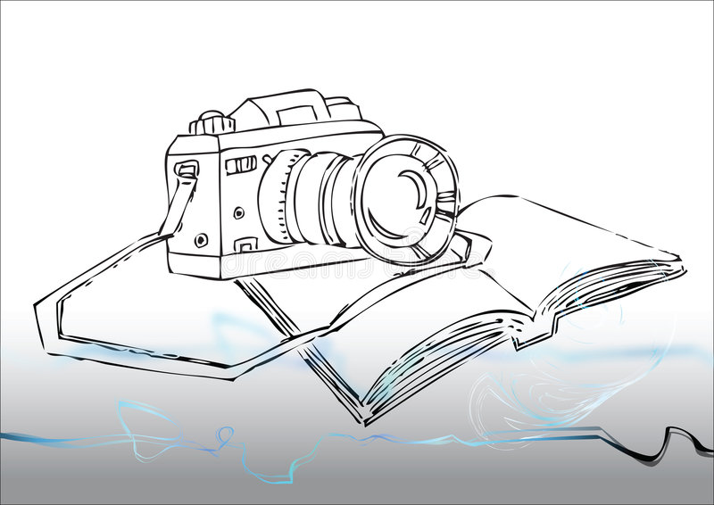 Download Still photo camera stock vector. Image of background, book - 8045086