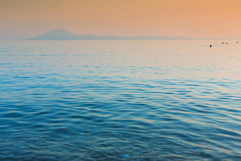 Download Still Sea And Distant Island Stock Photo - Image: 32309926