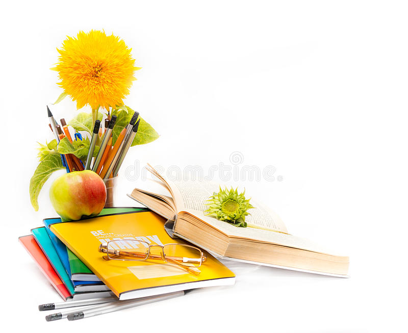 Object of school. Teacher Day stock photography