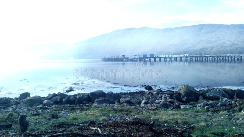Still waters of fort william. Still waters fort william tranqil royalty free stock image