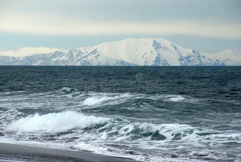 Stilla havet från den Kamchatka halvön arkivfoton
