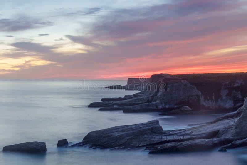 Stilla havetkustlinje nära panterstranden royaltyfri bild