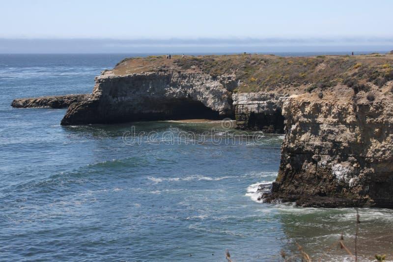 Stilla havetliten vik arkivbild