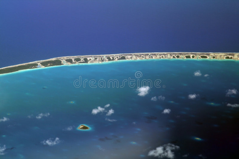 Stillahavs- atollhav arkivfoto