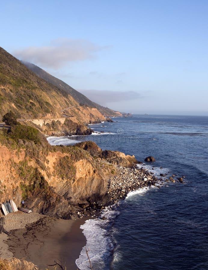 Stillahavs- Kalifornien kusthav royaltyfri foto