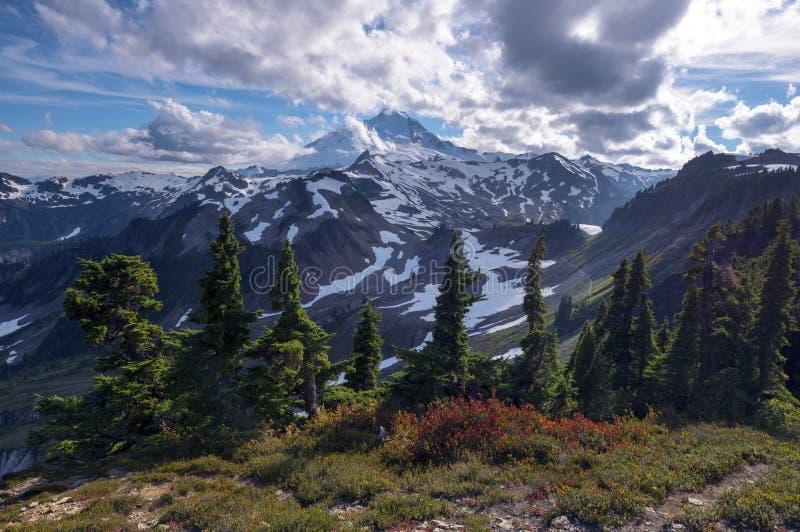 Stillahavs- nordvästlig Washington State Hiking Climbing Landscape Waterscape bakgrund arkivbild