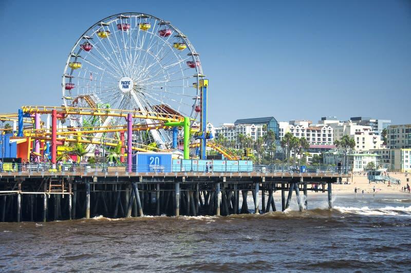 Stillahavs- parkera nöjesfältet Santa Monica royaltyfria foton