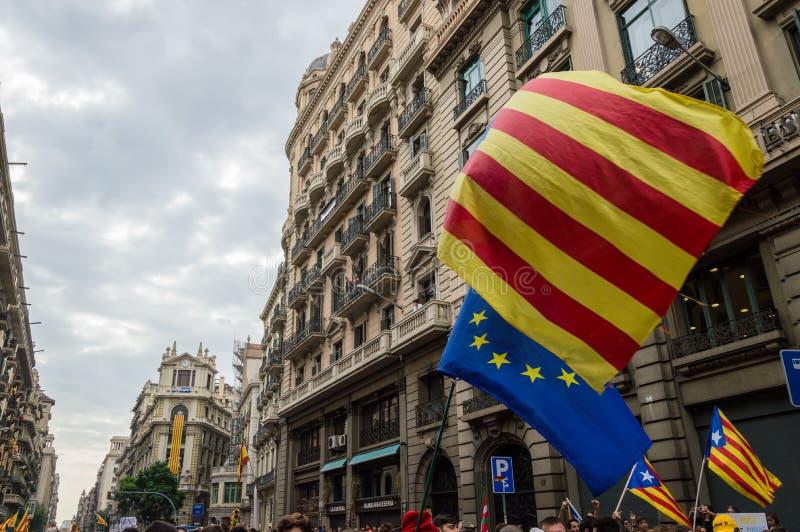 Stillahavs- protest, Barcelona royaltyfri bild