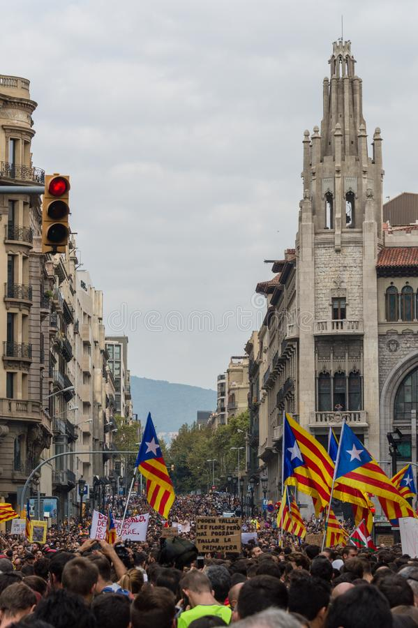 Stillahavs- protest, Barcelona arkivfoton