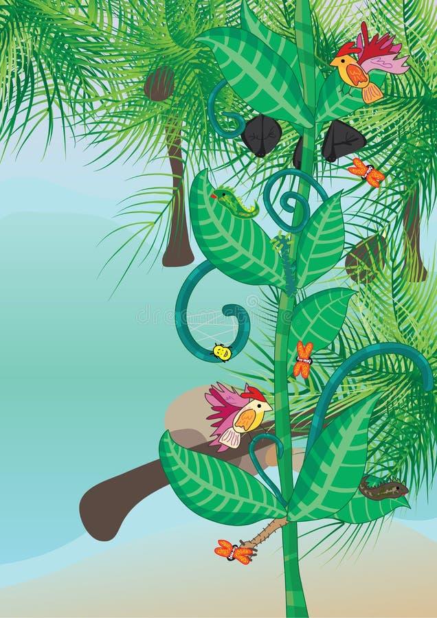 Stillahavs- söder för eps-livstid vektor illustrationer