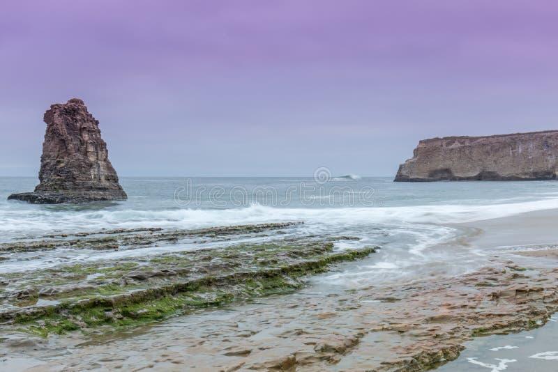 Stillahavs- skymning för hav arkivfoton
