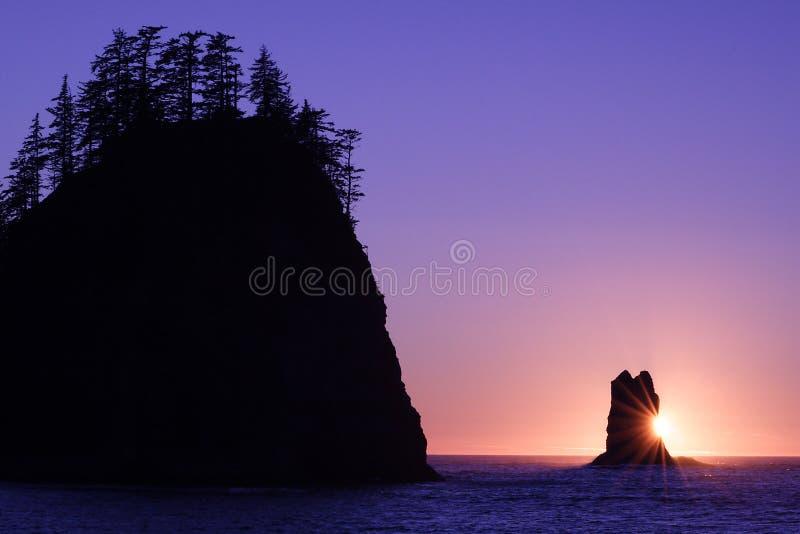 Stillahavs- sun royaltyfria bilder
