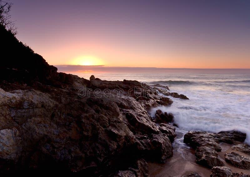 Stillahavs- sunise för hav ii arkivfoton