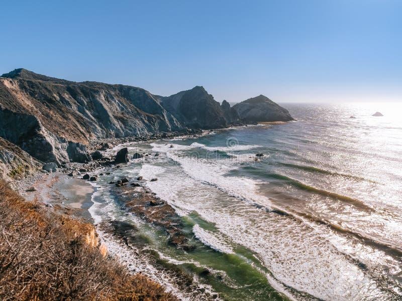 Stillahavskusten på stora Sur, Kalifornien royaltyfria foton