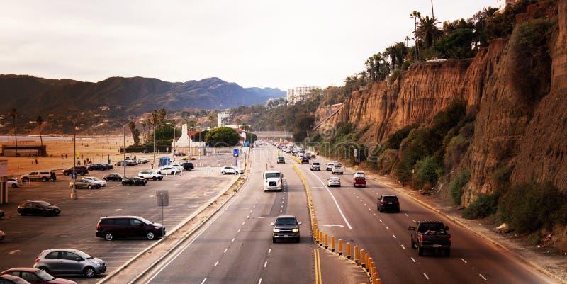 Stillahavskustenhuvudväg i sydliga Kalifornien, Förenta staterna arkivfoton