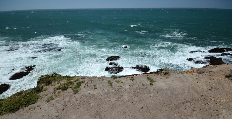 Stillahavskustenintryck av punktarenaljus, Kalifornien USA fotografering för bildbyråer