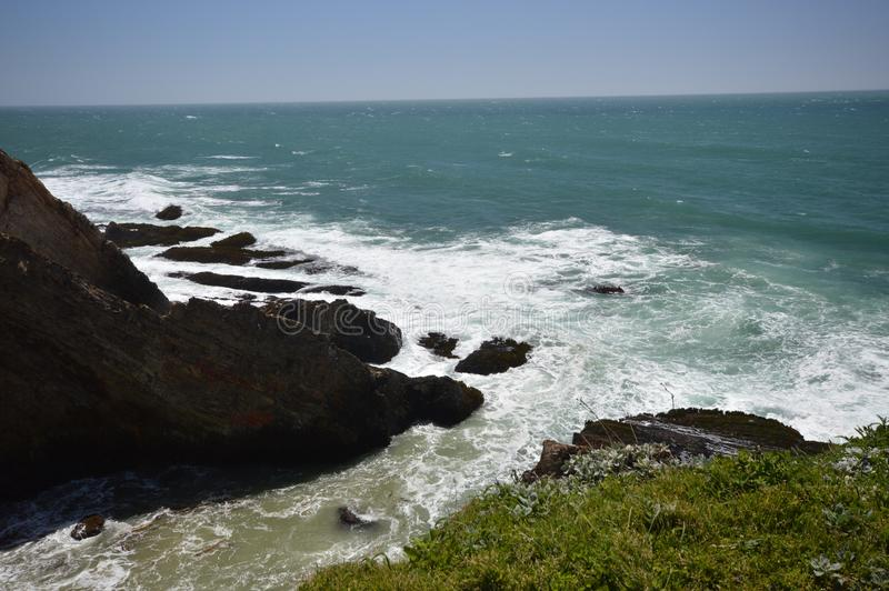 Stillahavskustenintryck av punktarenaljus, Kalifornien USA royaltyfri fotografi