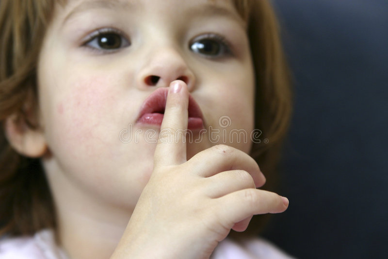Stille! lizenzfreies stockfoto