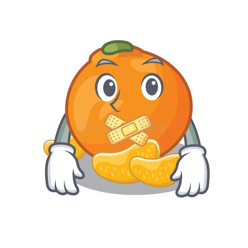 Stille die mandarijn met in het beeldverhaal wordt geïsoleerd royalty-vrije illustratie