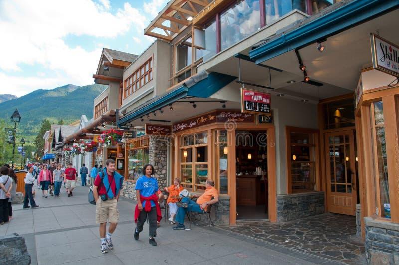 Stille stad van Banff royalty-vrije stock fotografie