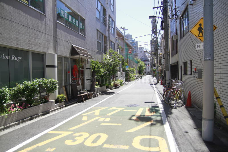 Stille straat in Tokyo Japan stock foto