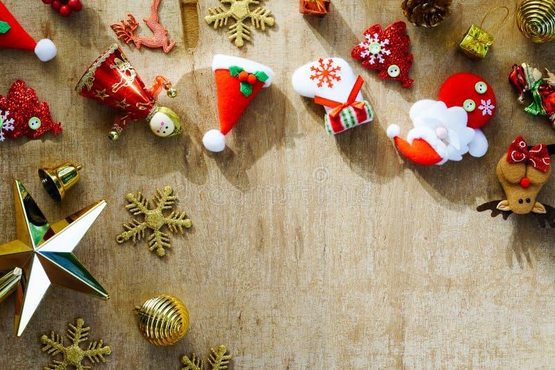 Stilleben av glad jul och conc bakgrund för lyckligt nytt år arkivbild