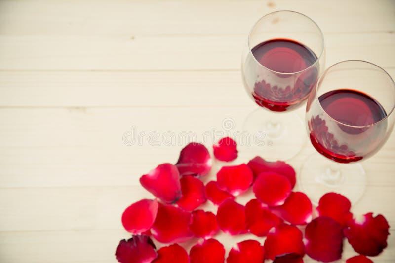 Stilleben av vinexponeringsglas arkivfoton