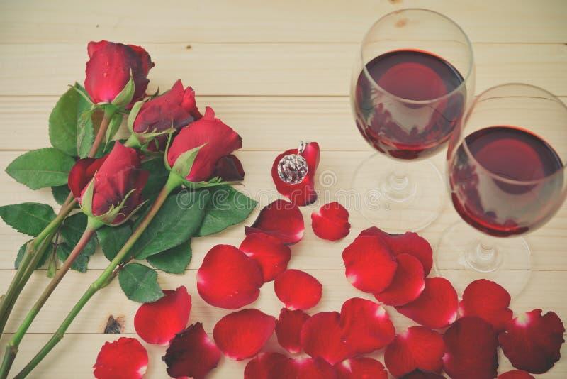 Stilleben av vinexponeringsglas royaltyfria foton