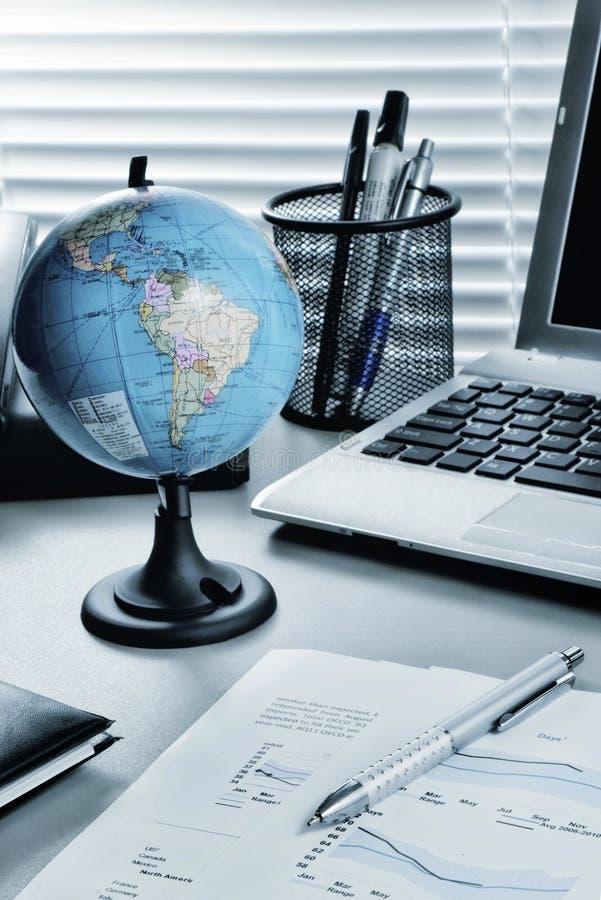 Stilleben för global affär fotografering för bildbyråer