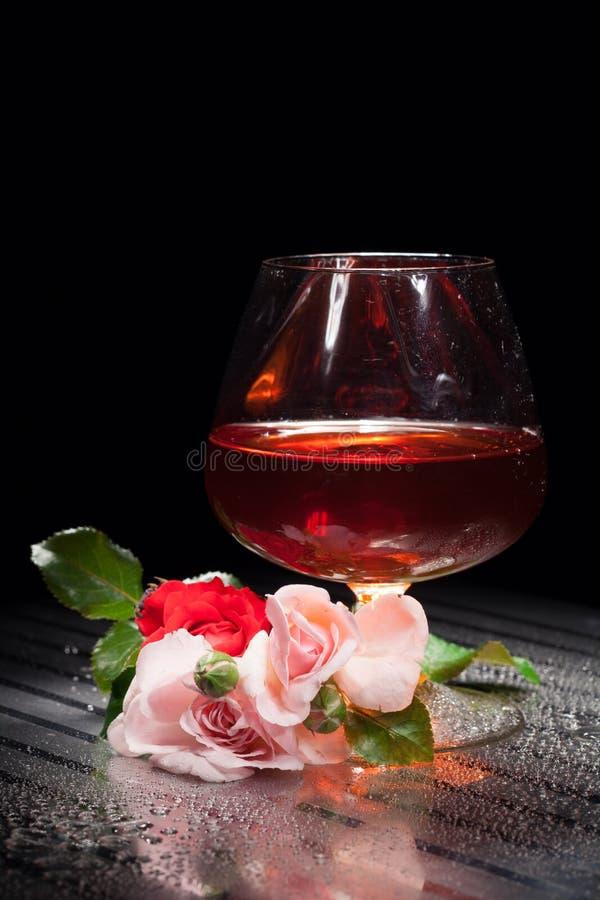 Stilleben med exponeringsglas och steg royaltyfri bild