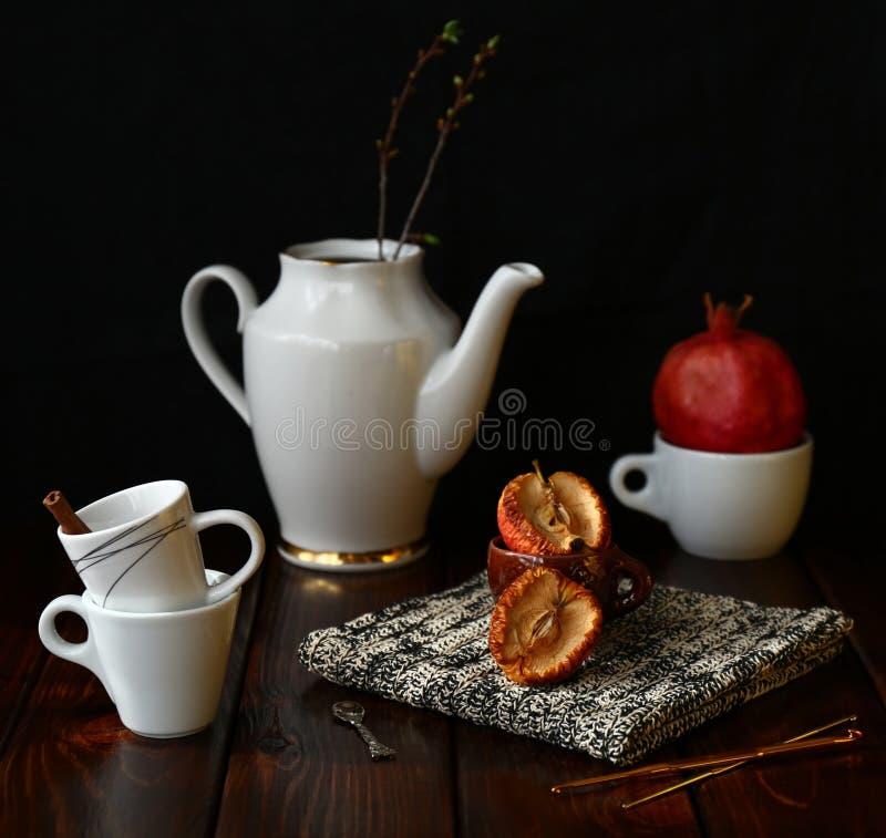 Stilleben med pomegranaten royaltyfri foto