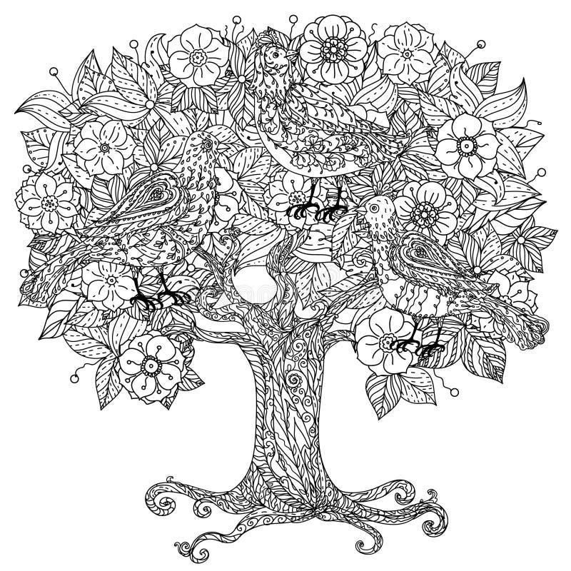 Stilleven met bloemen stock illustratie