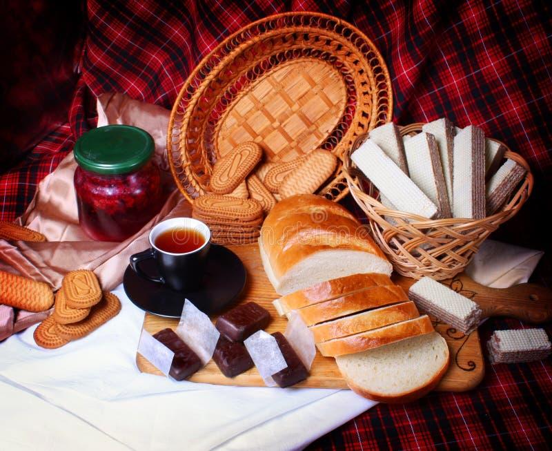 Stilleven met brood royalty-vrije stock foto's