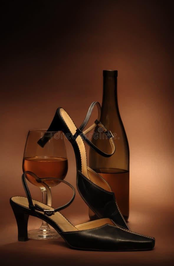 Stilleven met de schoenen van vrouwen royalty-vrije stock fotografie