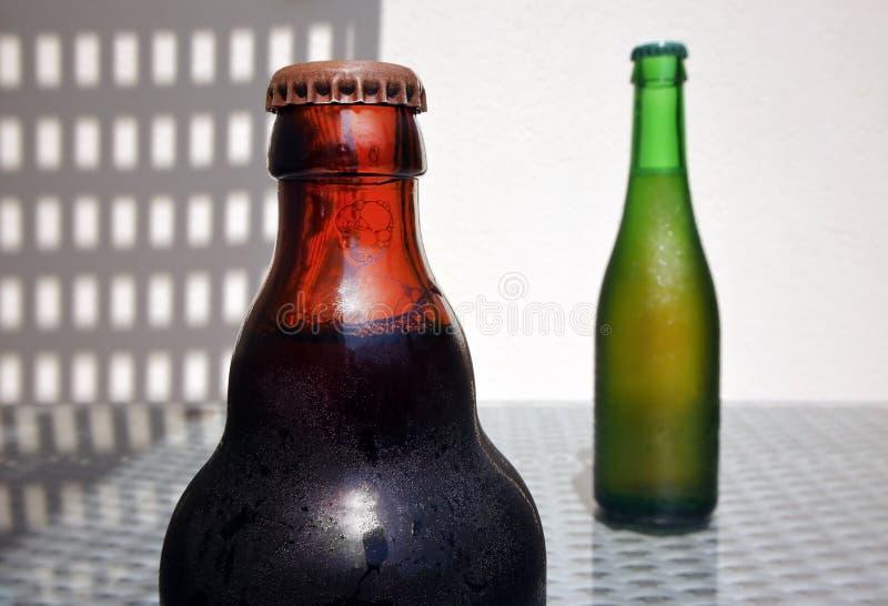 Stilleven met Flessen Bier royalty-vrije stock fotografie