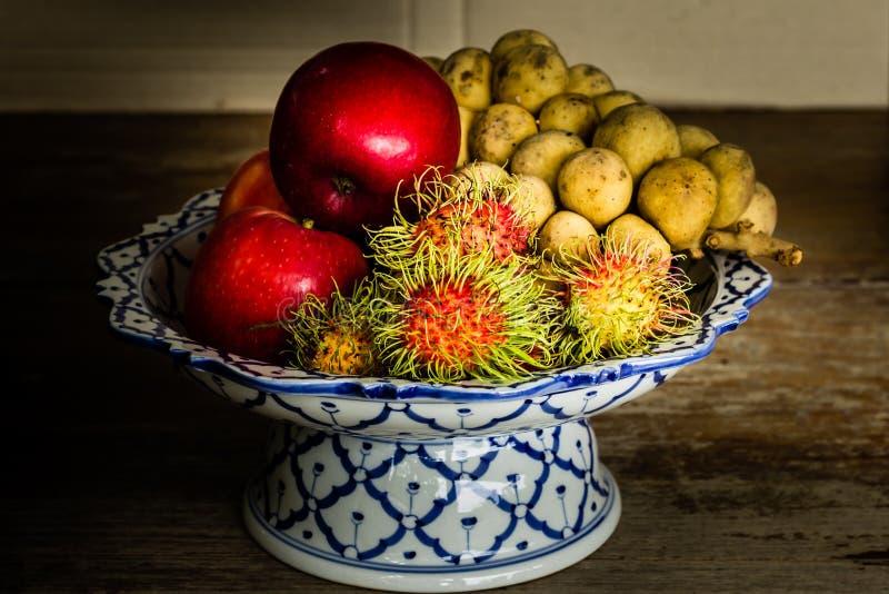 Stilleven met Fruit stock afbeeldingen