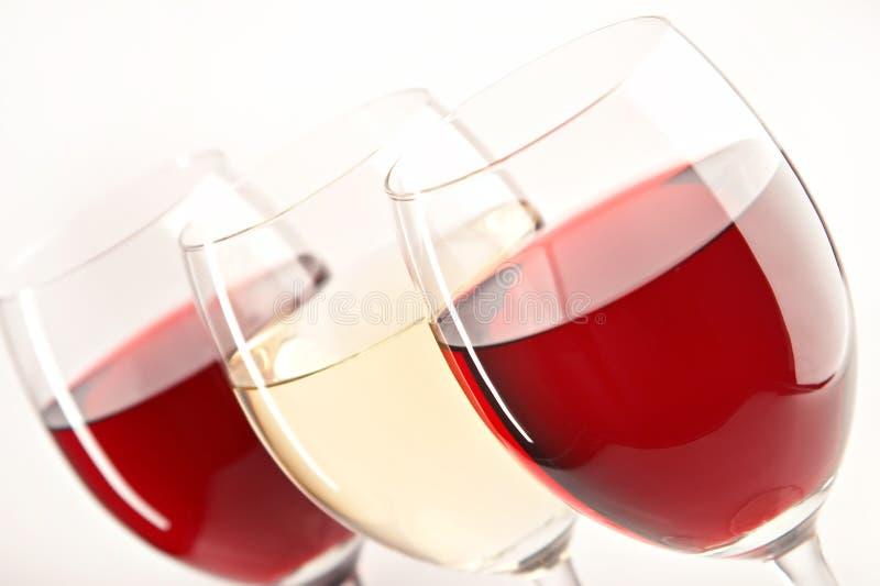 Stilleven met glazen wijnen stock fotografie