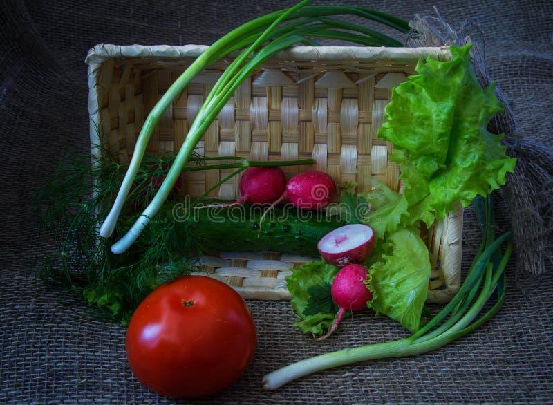 Stilleven met groenten stock foto