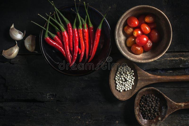 Stilleven met het koken van ingrediënten stock foto's