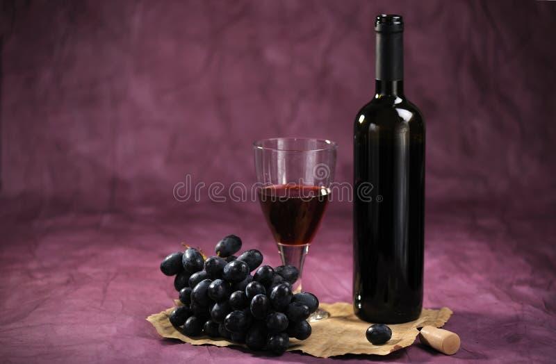 Stilleven met wijnstok stock afbeeldingen