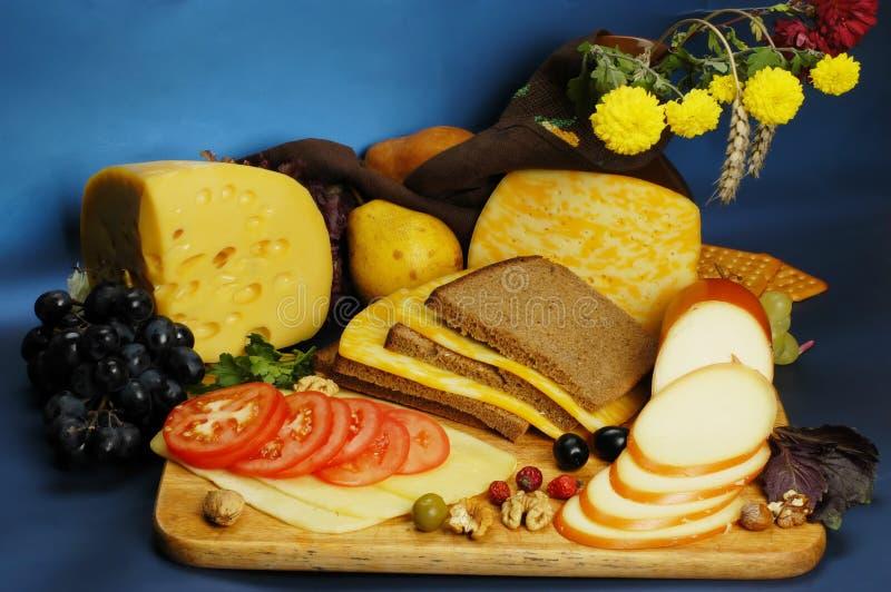 Stilleven van kaas stock afbeelding