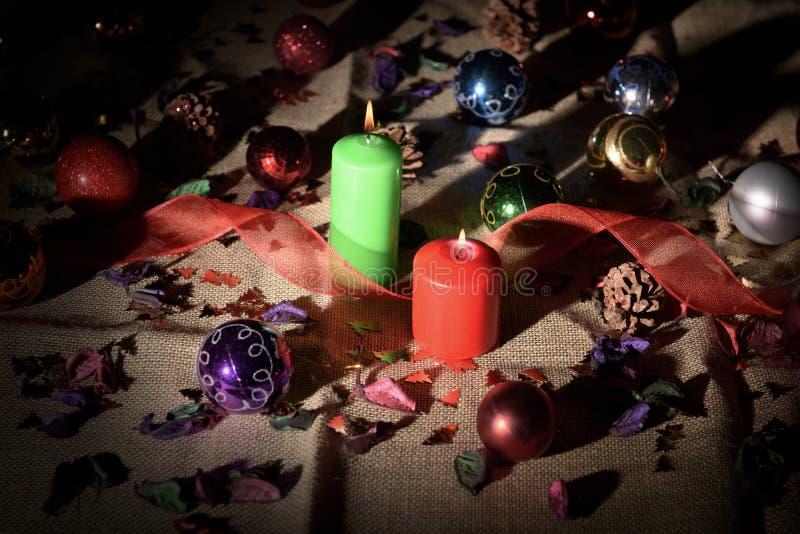 Stilleven van Kerstmisdecoratie stock foto's