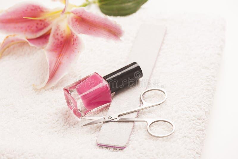 Stilleven van manicuremateriaal stock foto
