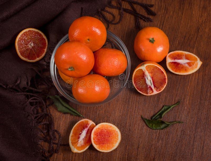 Stilleven van sinaasappelen Close-up stock fotografie