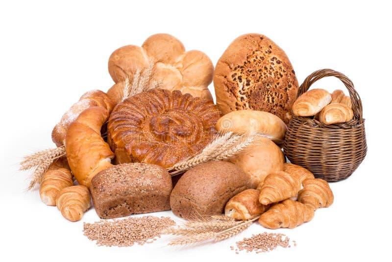 Stilleven van verschillende soorten brood stock foto