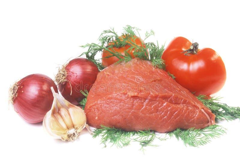 Stilleven van vlees royalty-vrije stock foto